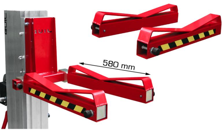 Carrelli elevatori manuali con supporti per carichi cilindrici